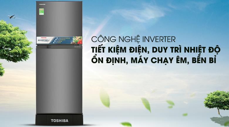 Tích hợp công nghệ Inverter ưu việt, tiết kiệm điện - Tủ lạnh Toshiba Inverter 194 lít GR-A25VS (DS)