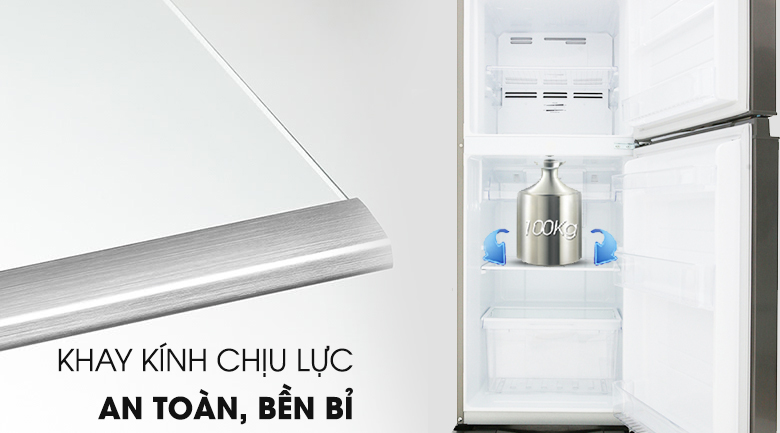 Khay chứa chịu lực vững chắc - Tủ lạnh Toshiba Inverter 194 lít GR-A25VS (DS)