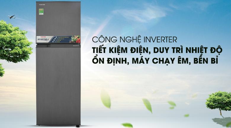 Tiết kiệm điện hơn với công nghệ Inverter - Tủ lạnh Toshiba Inverter 233 lít GR-A28VS (DS)