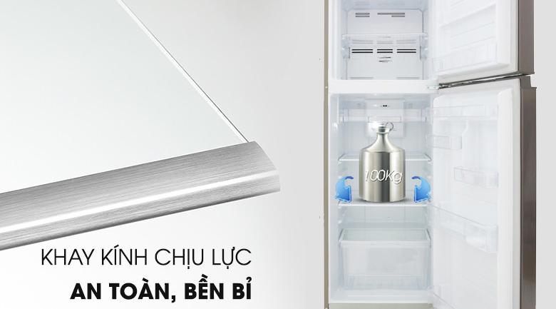 Khay kính chịu lực an toàn - Tủ lạnh Toshiba Inverter 233 lít GR-A28VS (DS)