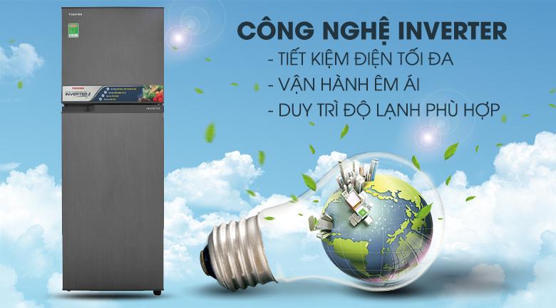 Công nghệ inverter hiện đại - Tủ lạnh Toshiba Inverter 233 lít GR-A28VS (DS)