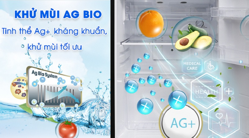 Bảo vệ sức khỏe với công nghệ Ag Bio - Tủ lạnh Toshiba Inverter 233 lít GR-A28VS (DS)