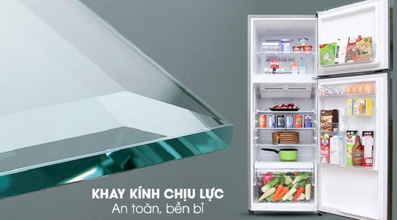 Khay kính chịu lực bền bỉ - Tủ lạnh Toshiba Inverter 233 lít GR-A28VS (DS)