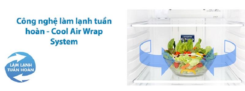 Hệ thống làm lạnh tuần hoàn duy trì nhiệt độ tốt hơn - Tủ lạnh Toshiba Inverter 233 lít GR-A28VS (DS)
