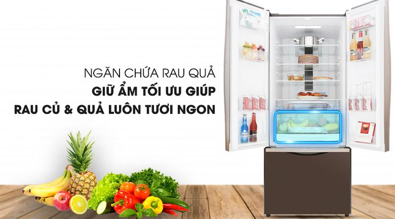 Ngăn rau củ quá hiện đại - Tủ lạnh Hitachi Inverter 429 lít R-WB545PGV2 GBW