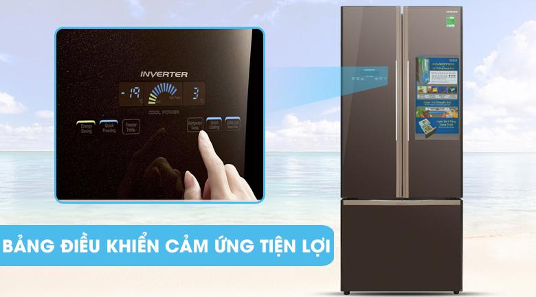 Bảng điều khiển cảm ứng bên ngoài - Tủ lạnh Hitachi Inverter 429 lít R-WB545PGV2 GBW