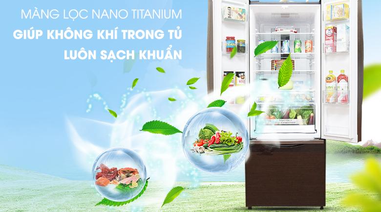 Kháng khuẩn, khử mùi nhờ công nghệ Nano Titanium - Tủ lạnh Hitachi Inverter 382 lít R-WB475PGV2 GBW