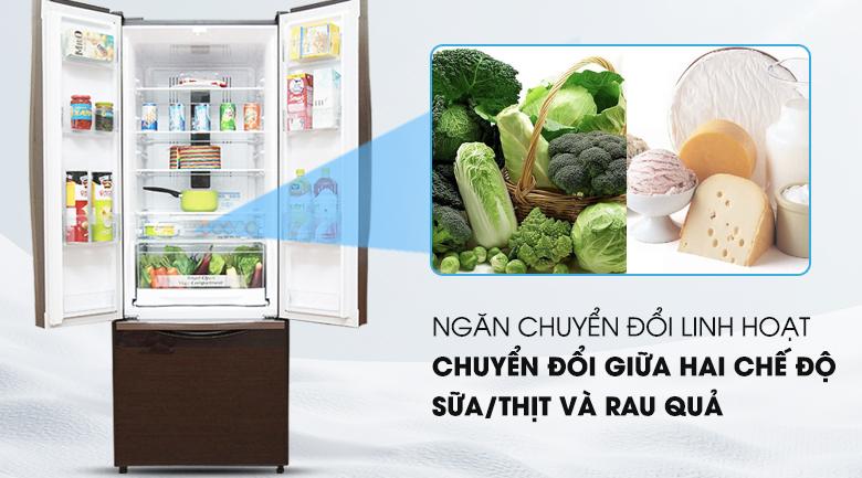 Ngăn chứa chuyển đổi linh hoạt - Tủ lạnh Hitachi Inverter 382 lít R-WB475PGV2 GBW