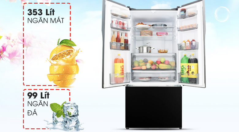Dung tích lên đến 491 lít - Tủ lạnh Panasonic Inverter 491 lít NR-CY558GKV2
