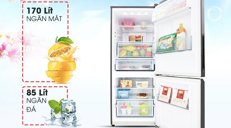 Dung tích 255 lít phù hợp khi sử dụng - Tủ lạnh Panasonic Inverter 255 lít NR-BV289QKV2