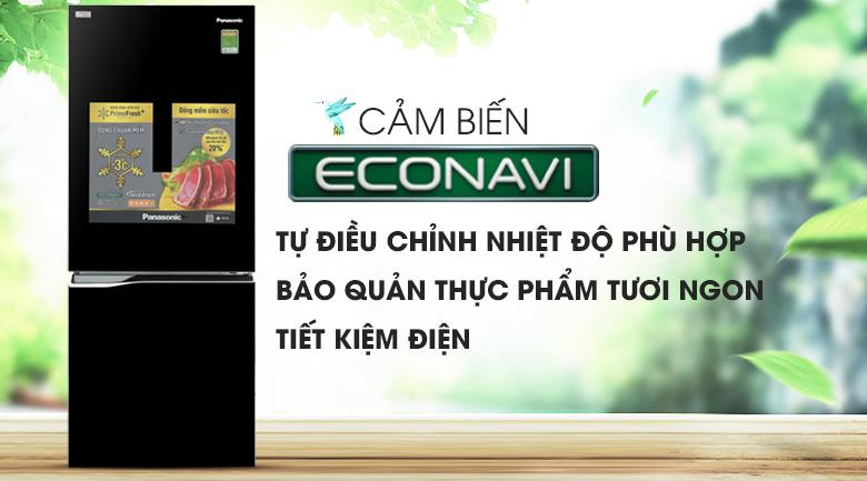 Cảm biến nhiệt Econavi hỗ trợ tiết kiệm điện tối ưu hơn - Tủ lạnh Panasonic Inverter 255 lít NR-BV289QKV2