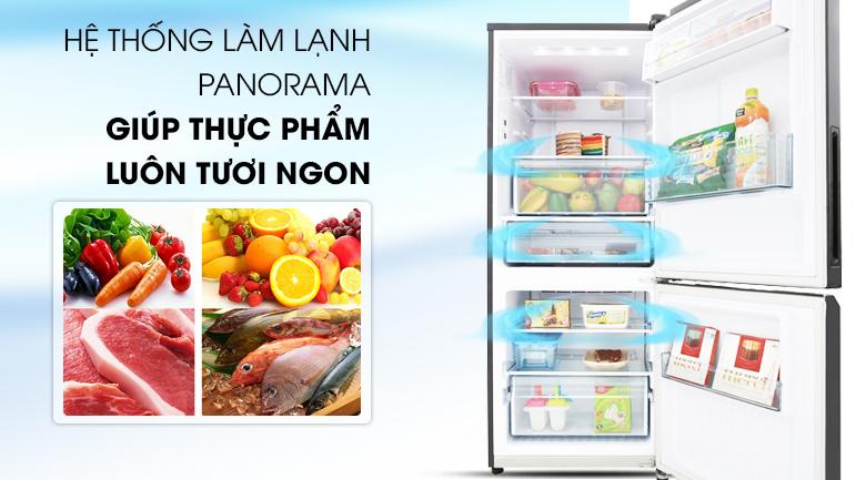 Công nghệ Panorama làm lạnh ổn định - Tủ lạnh Panasonic Inverter 255 lít NR-BV289QKV2