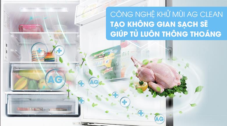 Diệt khuẩn khử mùi mạnh mẽ với công nghệ Ag Clean - Tủ lạnh Panasonic Inverter 255 lít NR-BV289QKV2