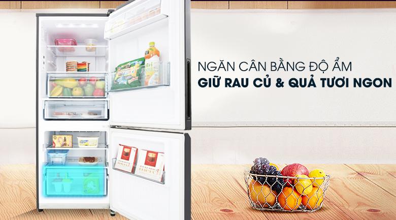 Ngăn chứa rau củ quả tiện dụng - Tủ lạnh Panasonic Inverter 255 lít NR-BV289QKV2