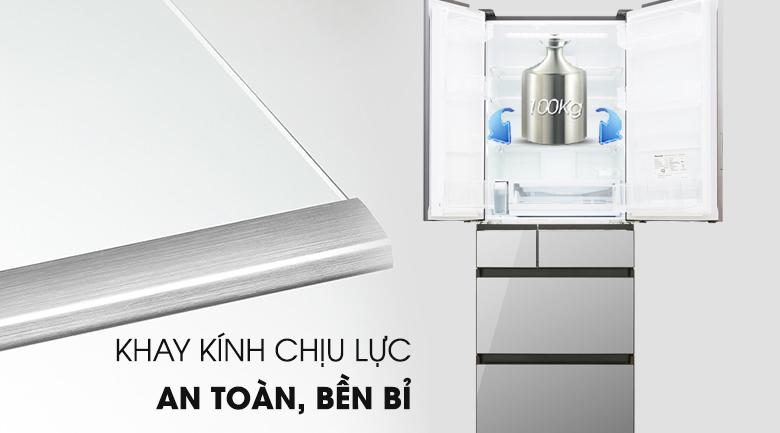 Khay chứa chịu lực an toàn - Tủ lạnh Panasonic Inverter 491 lít NR-F503GT-X2