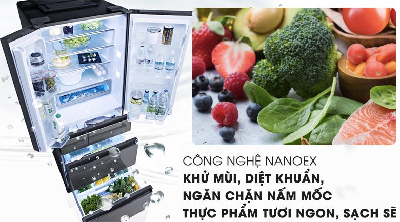 Công nghệ NANOEX - Tủ lạnh Panasonic Inverter 491 lít NR-F503GT-X2