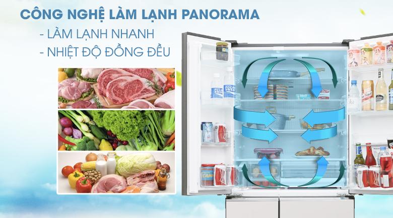 Công nghệ Panorama - Tủ lạnh Panasonic Inverter 491 lít NR-F503GT-X2