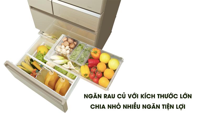 Ngăn rau củ lớn - Tủ lạnh Panasonic Inverter 589 lít NR-F603GT-N2