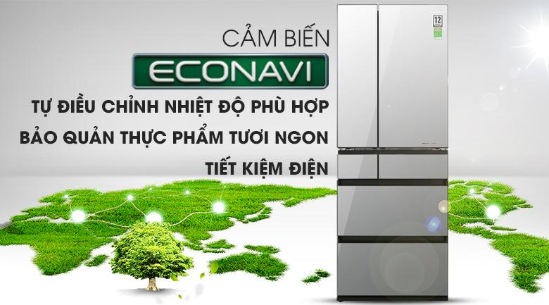 Công nghệ Econavi - Tủ lạnh Panasonic Inverter 589 lít NR-F603GT-X2
