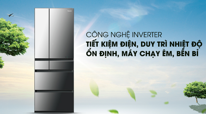 Công nghệ Inverter - Tủ lạnh Panasonic Inverter 589 lít NR-F603GT-X2
