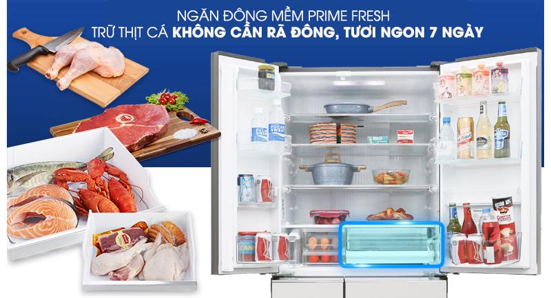Tủ lạnh Panasonic Inverter 589 lít NR-F603GT-X2 - Ngăn cấp đông mềm Prime Fresh
