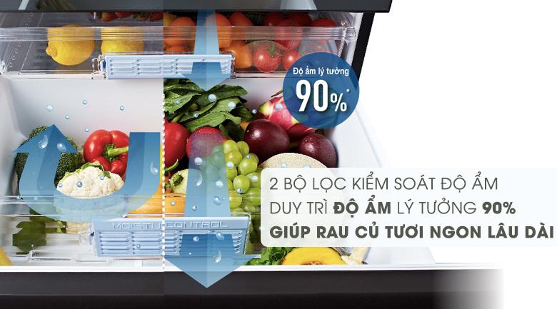 Bộ lọc kiếm soát độ ẩm của tủ lạnh Panasonic NR-F603GT-X2
