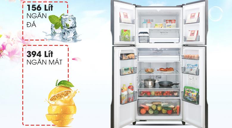 Tủ lạnh Panasonic NR-DZ600GKVN - Dung tích