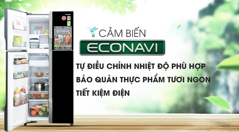 Cảm biến Econavi - Tủ lạnh Panasonic Inverter 550 lít NR-DZ600GKVN