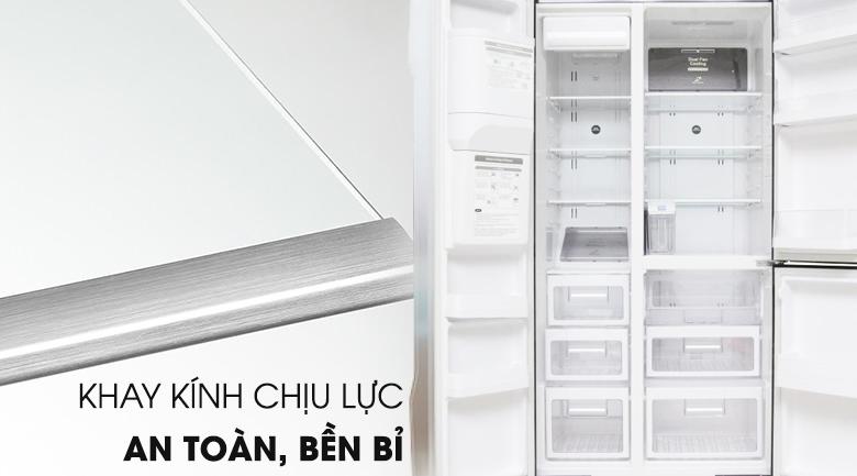 Khay chứa chịu lực lớn, an toàn  - Tủ lạnh Hitachi Inverter 584 lít R-M700GPGV2 GS
