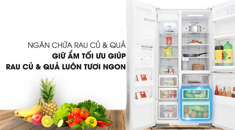 Ngăn rau củ quả tiện lợi - Tủ lạnh Hitachi Inverter 584 lít R-M700GPGV2 GS