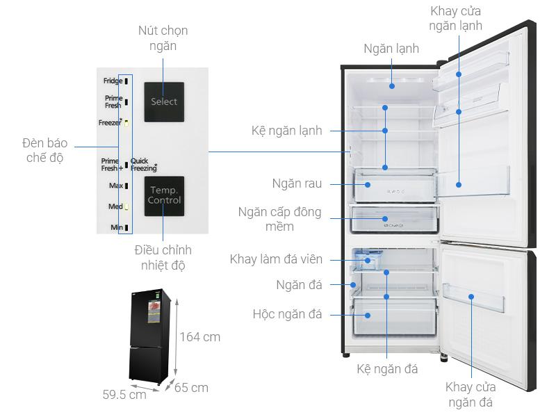 Thông số kỹ thuật Tủ lạnh Panasonic Inverter 290 lít NR-BV329QKV2