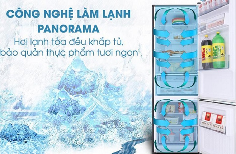 Công nghệ Panorama - Tủ lạnh Panasonic Inverter 290 lít NR-BV329QKV2