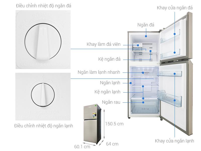 Thông số kỹ thuật Tủ lạnh Panasonic Inverter 268 lít NR-BL300PSVN