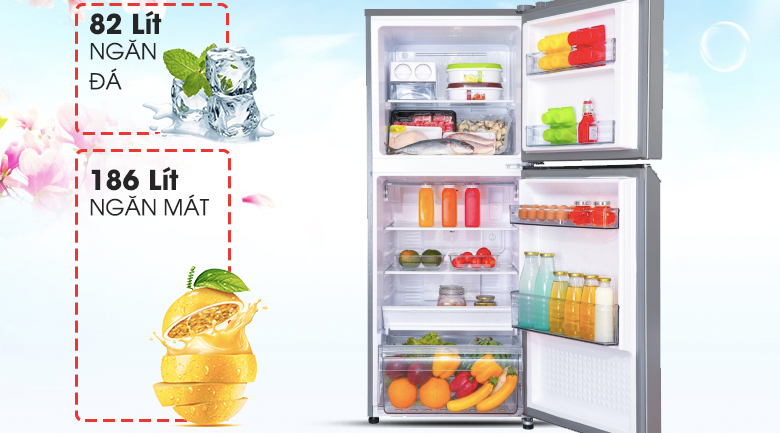 Dung tích 268 lít  - Tủ lạnh Panasonic Inverter 268 lít NR-BL300PSVN