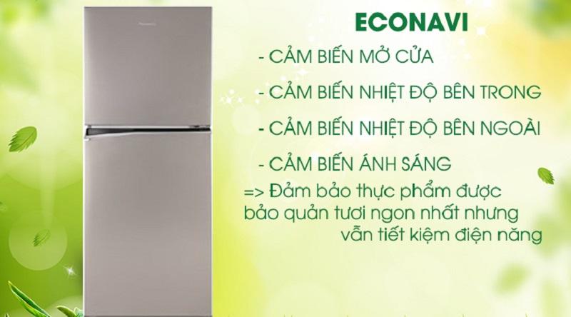 Tiết kiệm điện năng hiệu quả với cảm biến Econavi - Tủ lạnh Panasonic Inverter 268 lít NR-BL300PSVN