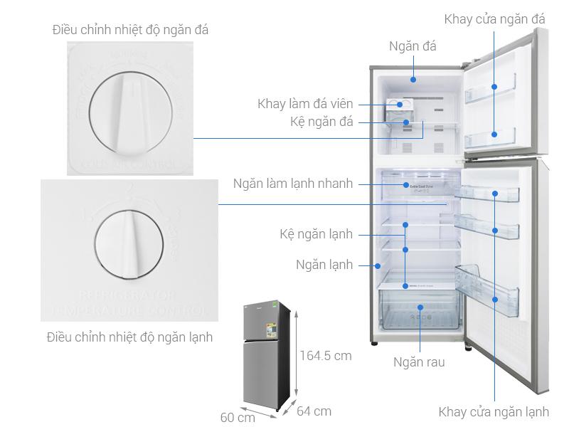 Thông số kỹ thuật Tủ lạnh Panasonic Inverter 306 lít NR-BL340PSVN