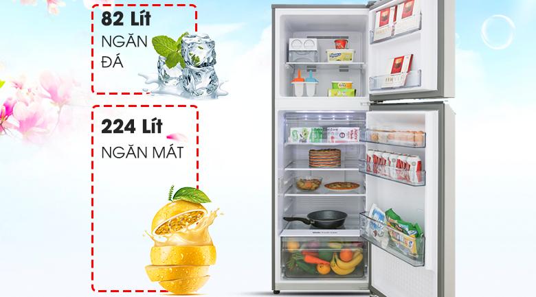DUng tích 306 lít - Tủ lạnh Panasonic NR-BL340PSVN