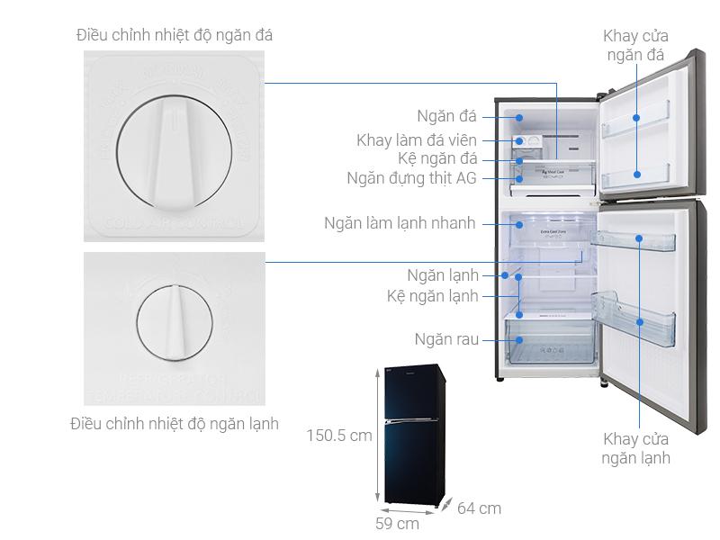 Thông số kỹ thuật Tủ lạnh Panasonic Inverter 268 lít NR-BL300GAVN