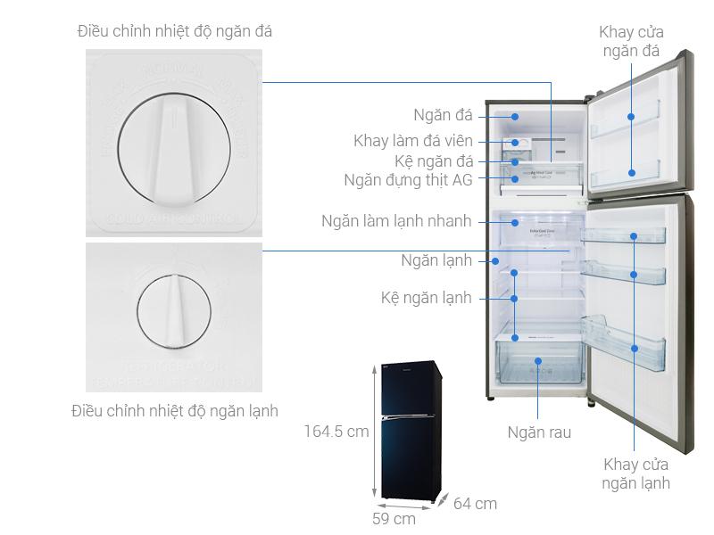 Thông số kỹ thuật Tủ lạnh Panasonic Inverter 306 lít NR-BL340GAVN