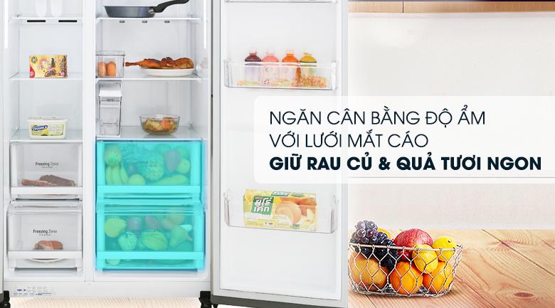 Ngăn cân bằng độ ẩm - Tủ lạnh LG Inverter 601 lít GR-D247JDS