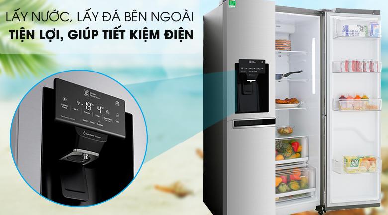 Lấy nước và đá ngoài -Tủ lạnh LG GR-D247JDS