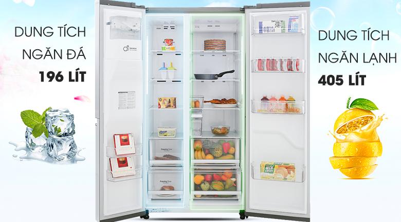 Dung tích - Tủ lạnh LG Inverter 601 lít GR-D247JDS