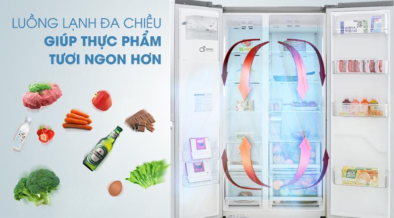 Làm lạnh đa chiều - Tủ lạnh LG Inverter 601 lít GR-D247JDS