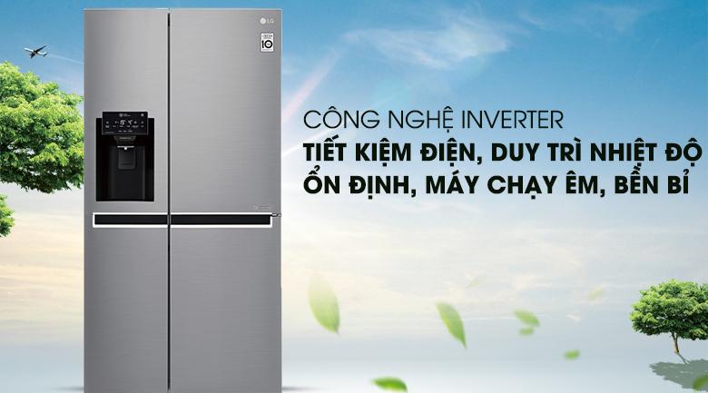 Công nghệ Inverter - Tủ lạnh LG Inverter 601 lít GR-D247JDS