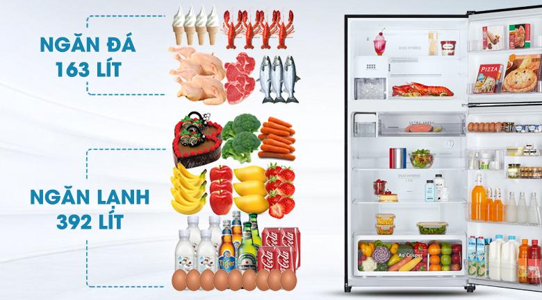 Dung tích lớn - Tủ lạnh Toshiba Inverter 555 lít GR-AG58VA (X)
