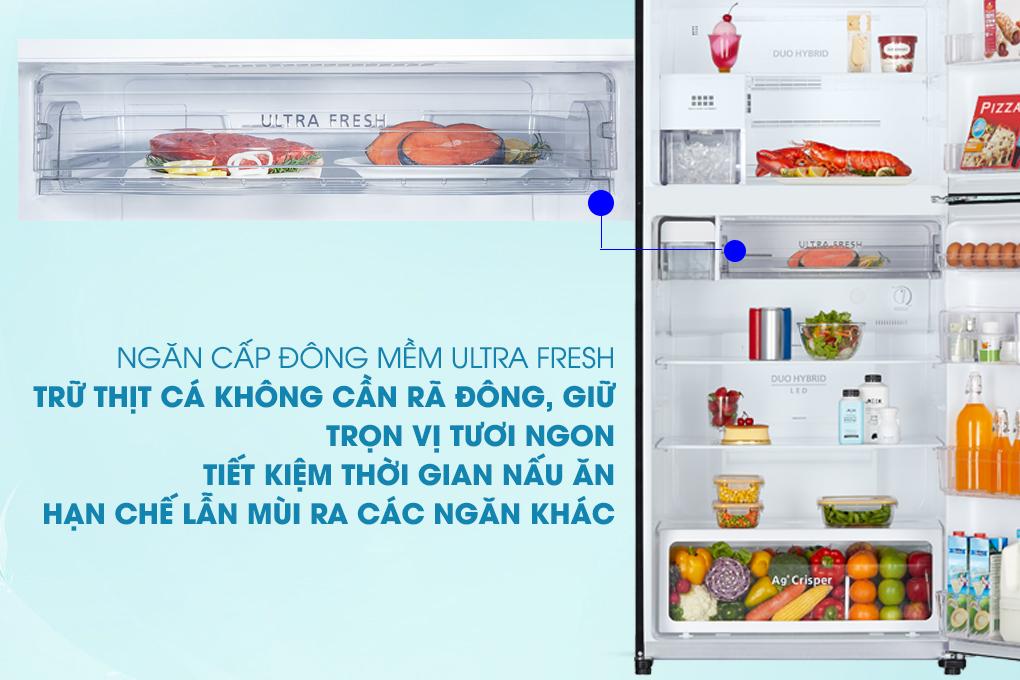 Ngăn làm lạnh Ultra Fresh - Tủ lạnh Toshiba Inverter 555 lít GR-AG58VA (X)