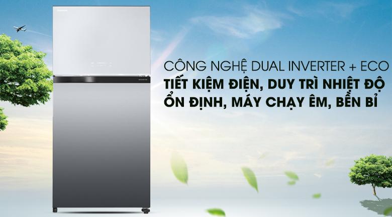 Công nghệ Dual Inverter ưu việt - Tủ lạnh Toshiba Inverter 555 lít GR-AG58VA (X)