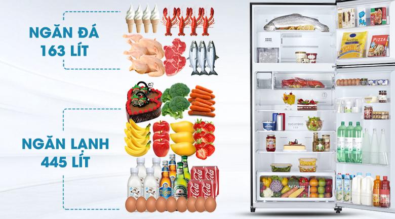Dung tích lớn, đáp ứng tốt nhu cầu sử dụng - Tủ lạnh Toshiba Inverter 608 lít GR-AG66VA (XK)