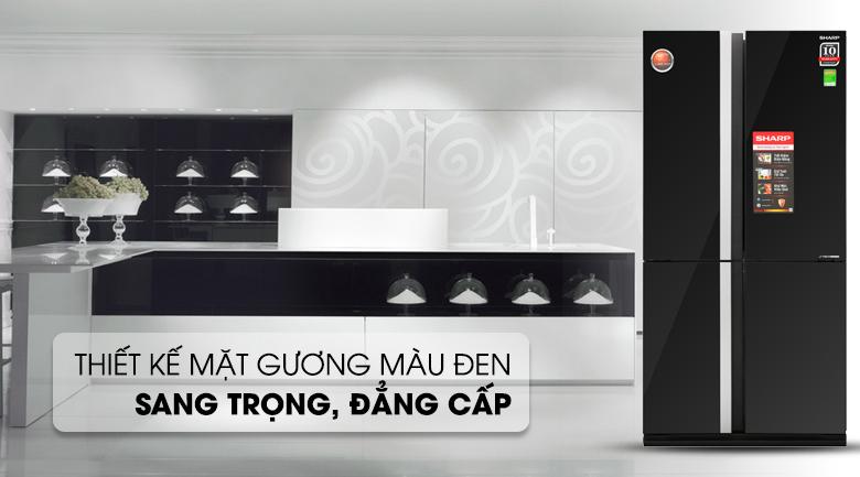 Tủ lạnh Sharp Inverter 605 lít SJ-FX688VG-BK - Thiết kế sáng tạo, kiểu dáng lịch lãm