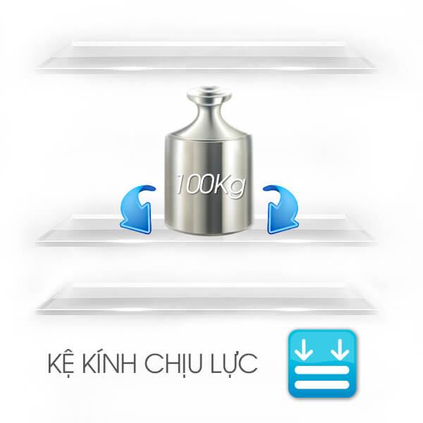 Khay kính chịu lực bền bỉ - Tủ lạnh Sharp Inverter 605 lít SJ-FX688VG-BK